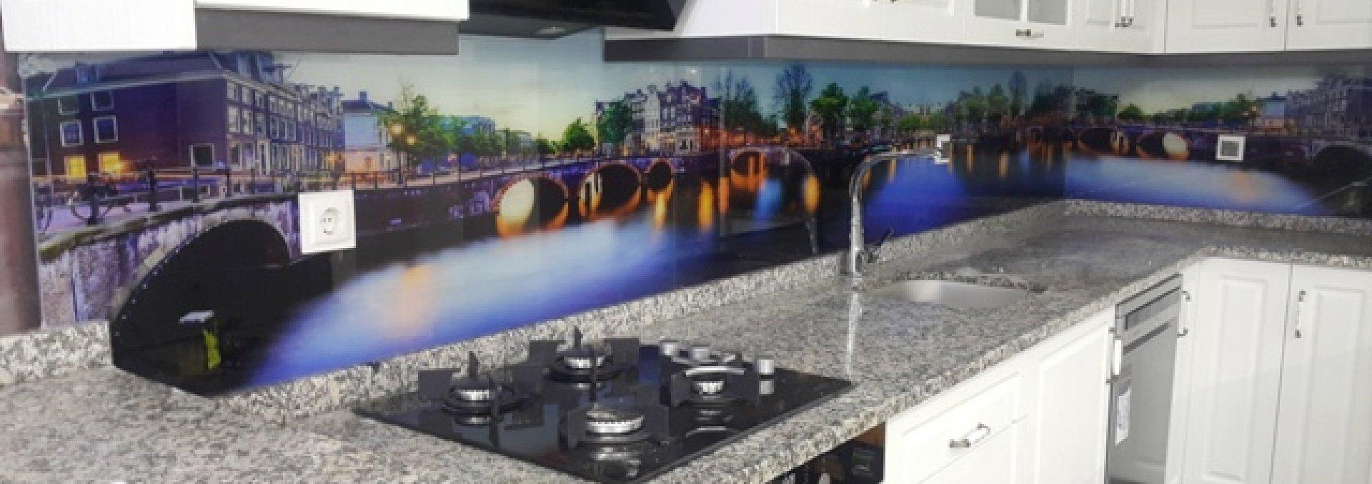 Violettglass - Kristal Cam Mozaik, 3D Mutfak Tezgah Arası,Vitray