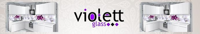 Dizayn Cam Dekorasyon - Violett glass, Kristal Cam Mozaik
